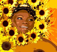 IYALORDE SUNFLOWERS BY LIZ LOZ by AFROFUSION