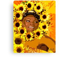 IYALORDE SUNFLOWERS BY LIZ LOZ Canvas Print