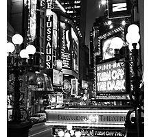 Down on 42nd Street Photographic Print