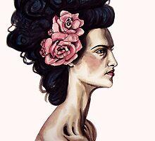 Rose in my hair by Rachelle Dyer