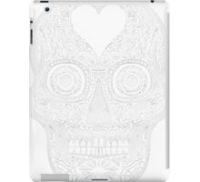 WHITE Eye skull iPad Case/Skin