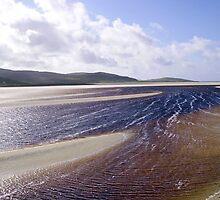 Sandbars on a Hebridean Beach by BlueMoonRose
