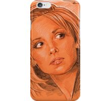 Our favorite vampire slayer, Buffy iPhone Case/Skin