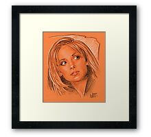 Our favorite vampire slayer, Buffy Framed Print
