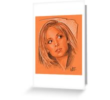 Our favorite vampire slayer, Buffy Greeting Card