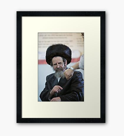 If our time has gone too fast ! Tempus fugit aeternitas manet . by Doctor Faustus . Harcikn Dank ! A dank ojch zejer!   Framed Print