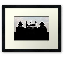 Silhouette Of The Red Fort Framed Print