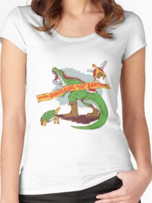 When dinosaurs ruled the earth  Women's Fitted Scoop T-Shirt
