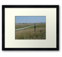 LITTLE PUMP ON THE PRAIRIE Framed Print