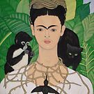 Frida with Monkey and Cat by Shulie1