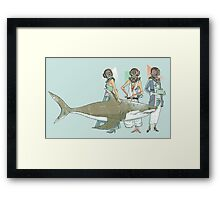 In Oceanic Fashion Framed Print