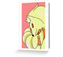 Ninetails Greeting Card