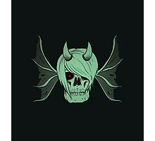 Skull Horns and Wings ( UNDEAD version ) Photographic Print