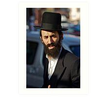 Street portrait.Leżajsk. Gosher Galicia. From my Midrasz. Harcikn Dank ! A dank ojch zejer!   by Doktor Faustus . Art Print