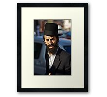 Street portrait.Leżajsk. Gosher Galicia. From my Midrasz. Harcikn Dank ! A dank ojch zejer!   by Doktor Faustus . Framed Print