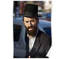 Street portrait.Leżajsk. Gosher Galicia. From my Midrasz. Harcikn Dank ! A dank ojch zejer!   by Doktor Faustus . Poster