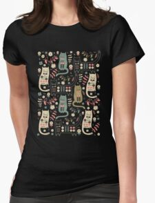 Cat Folk  Womens Fitted T-Shirt
