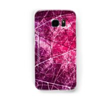 Pink and Purple Crackled Lacquer Grunge Texture Samsung Galaxy Case/Skin