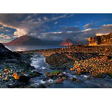 Elgol Burn and the Cuillin. Isle of Skye. Scotland. Photographic Print