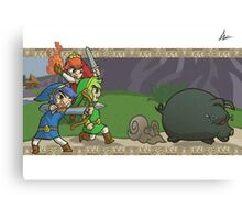 Triforce Heroes Legend of Zelda Canvas Print