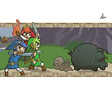 Triforce Heroes Legend of Zelda Photographic Print