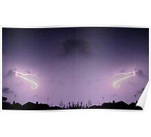 Lightning Art 40 Poster