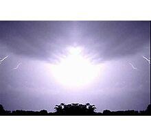 Lightning Art 45 Photographic Print