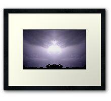 Lightning Art 46 Framed Print