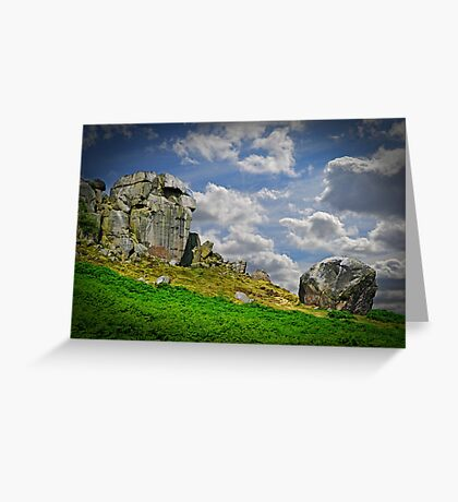 The Cow and Calf Greeting Card