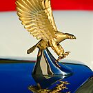 "1986 Zimmer Golden Spirit ""Eagle"" Hood Ornament by Jill Reger"