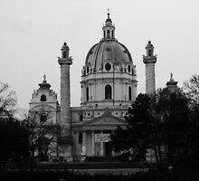 The Karlskirche, Vienna. by bekkalily