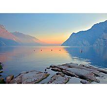 Luce della sera sul Lago di Garda Photographic Print