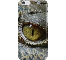 Scary Yellow Eye of Crocodile iPhone Case/Skin