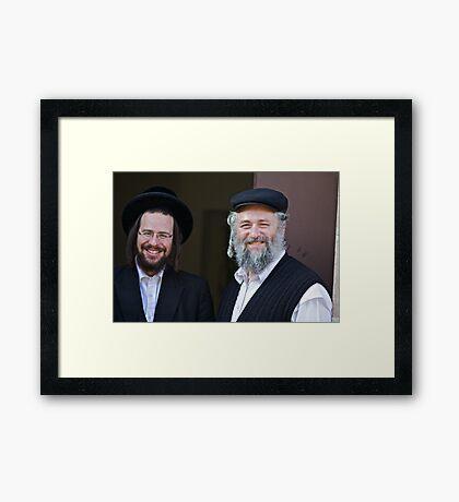 Shalom (שָׁלוֹם) .  Shalom Aleichem ! : שלום־עליכם sholem aleykhem !Harcikn Dank ! A dank ojch zejer!   by Doktor Faustus ♥ .. Framed Print