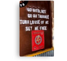 Set Me free Canvas Print