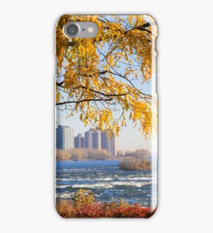 Morning walk, Parc des Rapides, Montreal iPhone Case/Skin