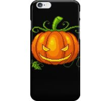 Pixel Jack O Lantern iPhone Case/Skin