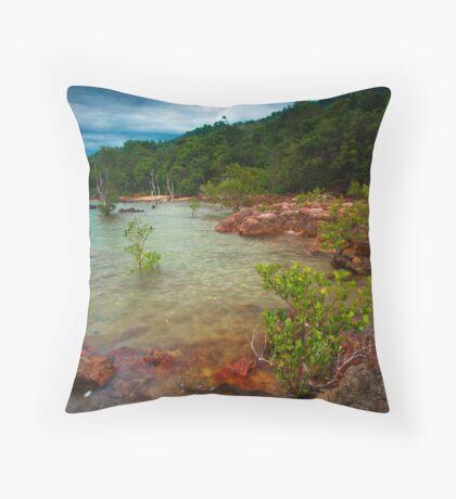 Koh Jum Rocks Throw Pillow