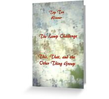 Top Ten Winner - Lamps Greeting Card