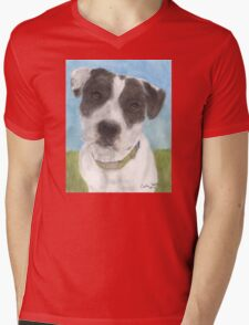 Pitbull Dog Portrait Canine Animal Cathy Peek Mens V-Neck T-Shirt