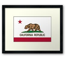 California Republic state flag Authentic version Framed Print