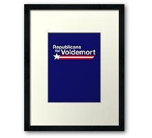 Republicans for Voldemort T-Shirt Framed Print
