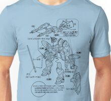 GUNDAM INSTRUCTIONS Unisex T-Shirt