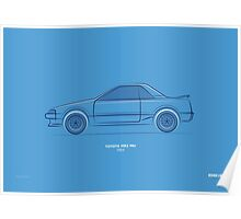 Design Lines - Toyota MR2 MkI Poster