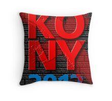 KONY 2012 Throw Pillow