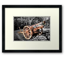 Now silent cannon. Framed Print
