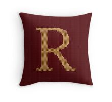 Weasley Sweater Letter R Throw Pillow