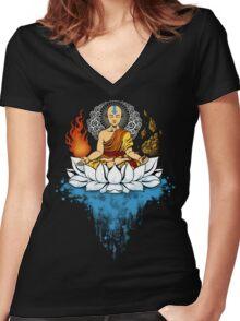 Enlightenment Women's Fitted V-Neck T-Shirt