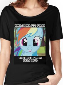 The longer you stare.. Women's Relaxed Fit T-Shirt