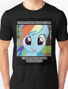 The longer you stare.. Unisex T-Shirt